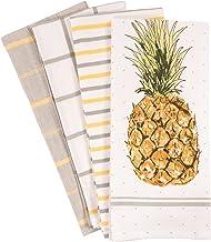 مجموعه حوله های آشپزخانه آناناس Pantry از 4 ، پنبه 100 درصدی ، 18 28 28 اینچ