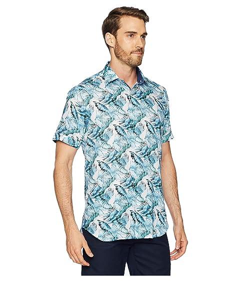 Camisa BUGATCHI tejida trenzada palmera forma de en turquesa pxx4dwCqz