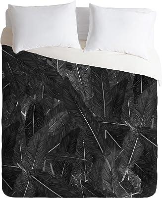 Deny Designs Matt Leyen Feathered Dark Duvet Cover, King