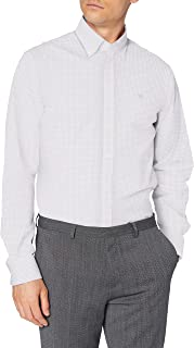 Hackett London White Based Chk Camisa para Hombre