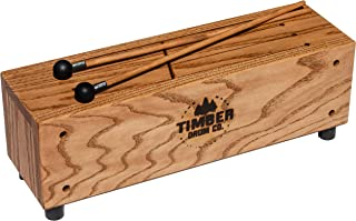 Timber Drum Company T18-M Made in USA Slit Tongue Log Drum with Mallets (VIDEO)