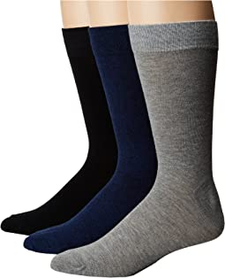3-Pack Marl Solid Crew Socks