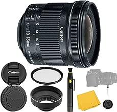 Canon EF-S 10-18mm f/4.5-5.6 IS STM Lens + UV Filter + Collapsible Rubber Lens Hood + Lens Cleaning Pen + Lens Cap Keeper + Cleaning Cloth - 10-18mm STM: Stepper Motor Lens - International Version