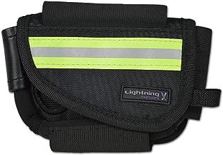New Improved Design & Clip Lightning X EMS First Responder Hip Pouch w/Reflective & Belt Clip - Black
