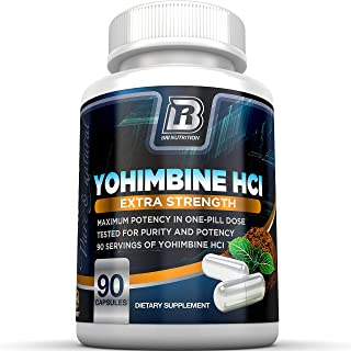 BRI Nutrition Yohimbine HCI - 2.5mg Yohimbe HCL Supplement Natural Metabolism Booster for Fat Burning, Weight Loss and Enh...