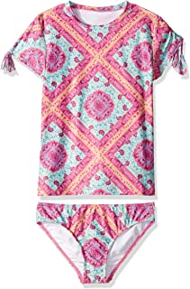 Seafolly Girls Short Sleeve Surf Set Swimsuit Two Piece Swimsuit
