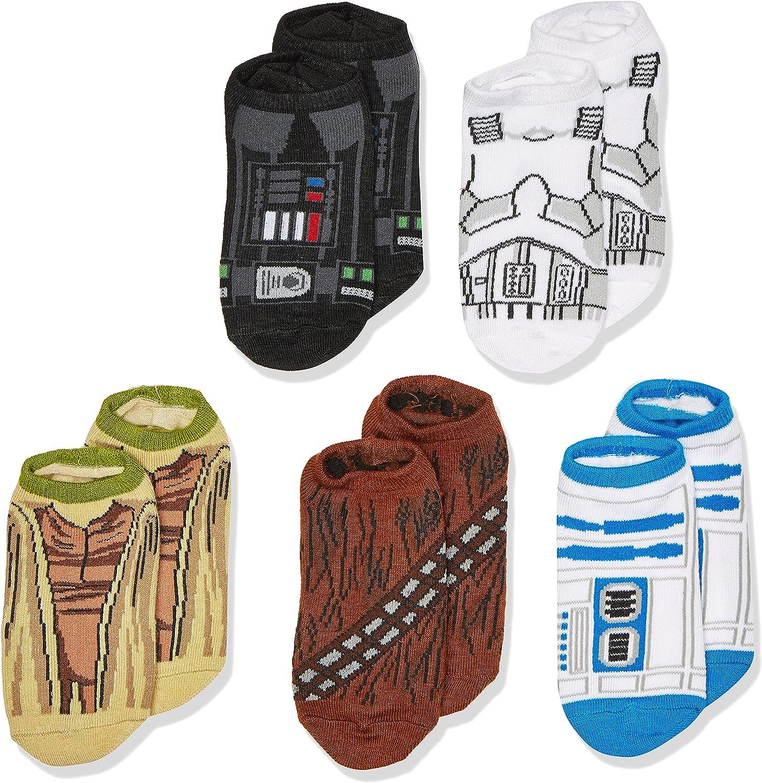 STAR WARS Boys Star Wars 5 Pack No Show Socks