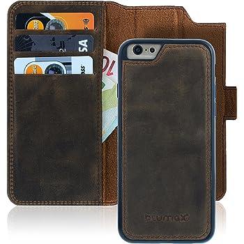 HUDDU Kompatibel mit iPhone 6 Plus Handyh/ülle Leder Wallet Flip Case Tasche PU Brieftasche Schutzh/ülle Ultra D/ünne St/änder Handytasche Magnetverschlu/ß Card Holder f/ür iPhone 6S Plus H/üllen Blaue Eule