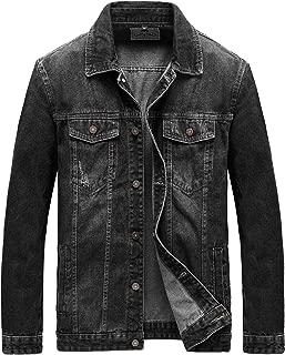 Men's Casual Button Down Denim Jacket Classic Trucker Jean Coat