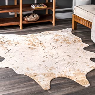 nuLOOM Iraida Faux Cowhide Shaped Rug, 3' 10