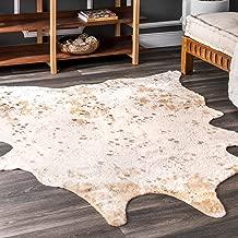 Best faux brown cowhide rug Reviews