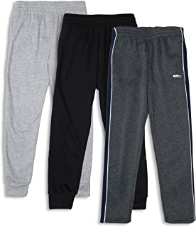 Boys 3-Pack Fleece Jogger Sweatpants for Athletic & Casual Wear