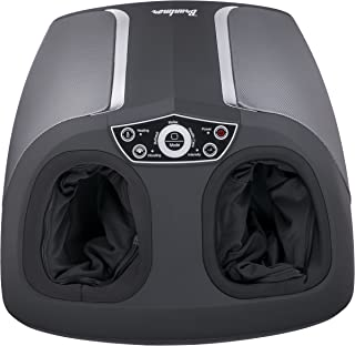Shiatsu Foot Massager 3 Modes with Heat Function, Deep Kneading Air Compression, Two Motors, Rolling, Tapping, Timer, and More, by Bruntmor
