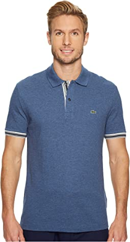 Lacoste - Short Sleeve 'Semi Fancy' Petit Pique 2 Wires Slim
