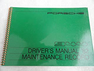 1982 Porsche 944 Owners Manual