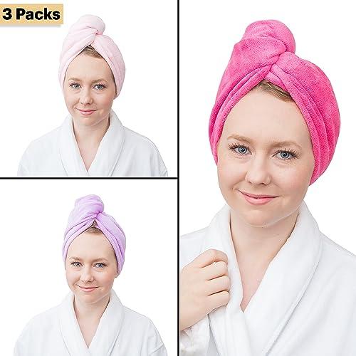 Fine Touch Wrap & Twist Microfiber Super Absorbent Hair Bath Towel (R)