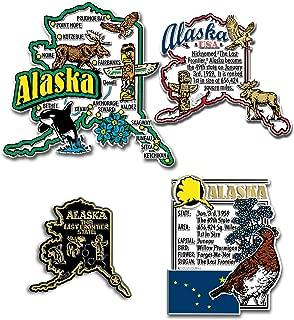 Alaska Four-Piece State Magnet Set