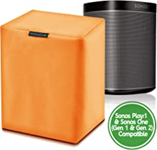 One Orange Sonos Speaker Cover - Outdoor Covers for Sonos Play:1 and Sonos One - Will fit on Mounted Speakers