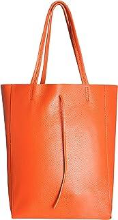 SKUTARI® LEDER VITTORIA Classic   Damen Shopper   Handtasche   Schultertasche   eingenähter Innentasche   Ledertasche   Be...