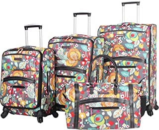 Luggage 4 Piece Suitcase Collection With Spinner Wheels For Woman (Bliss)