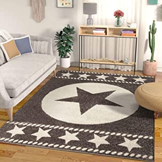 Well Woven Caspian Lone Star Brown Texas Area Rug 5x7 (5'3