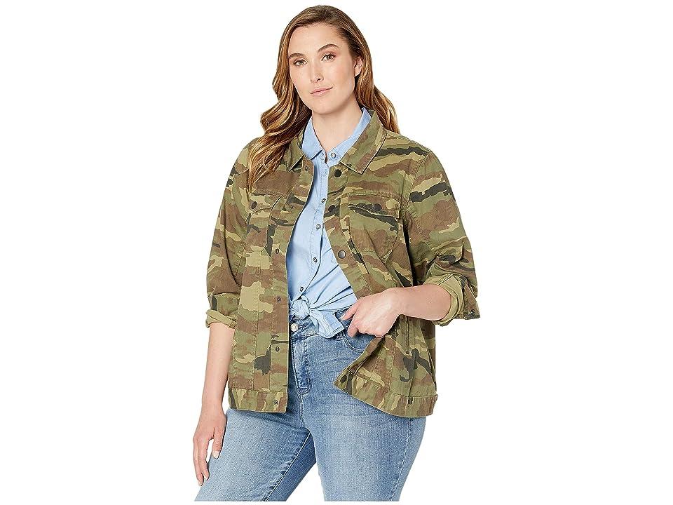 JUNAROSE Plus Size Bolum Long Sleeve Parka (Ivy Green) Women