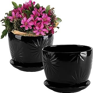 Best black glazed flower pots Reviews