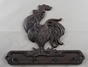Cast Iron Crowing Rooster Key Rack