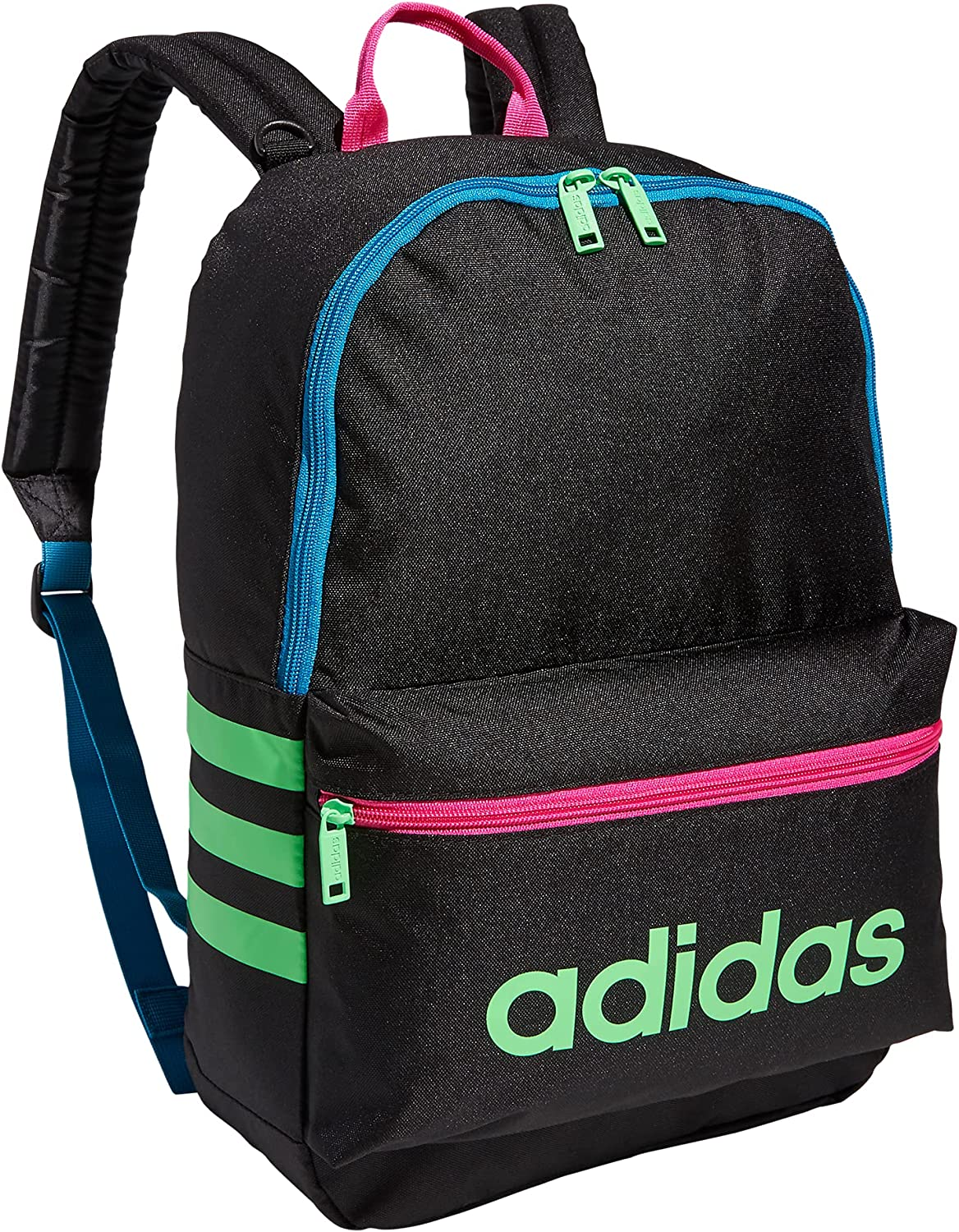 adidas Boys' Youth Classic 3S Backpack, Black/White, One Size