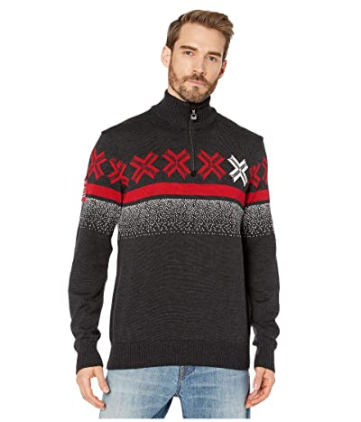 Dale of Norway Are Masculine Sweater (Dark Charcoal/Off-White/Raspberry) Men