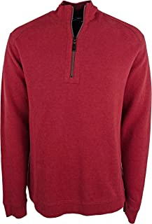 Tommy Bahama Men's Big and Tall Flip Side Classic Reversible Half-Zip Sweater