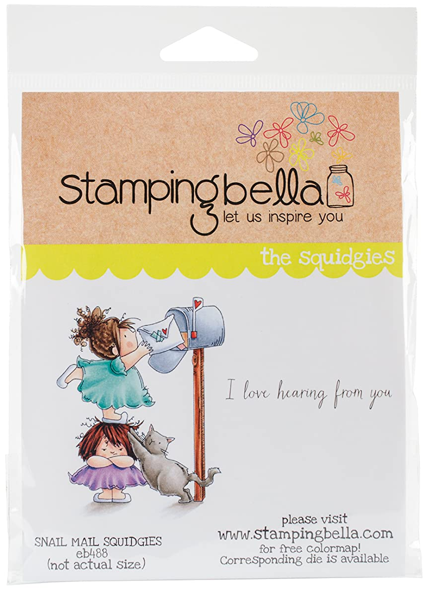 Stamping Bella EB488 Cling Stamps-Snail Mail Squidgy