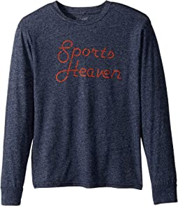 The Original Retro Brand Kids Espn Sports Heaven Long Sleeve Mocktwist Tee (Big Kids)