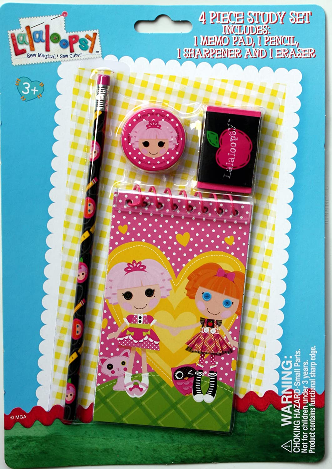 Lalaloopsy 4 Piece Study New product! New type Set with Pencil Era Notepad Outlet ☆ Free Shipping Sharpener