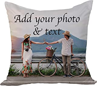 Custom Pillow Case, Add Your Text, Photo or Logo Personalized Memorial Pet Photo Pillow Wedding Keepsake Throw Pillow 14x14