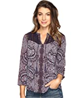 Lucky Brand - Lace Yoke Peasant Top
