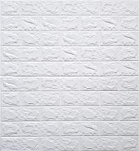 Store2508® PE Foam Wall Stickers 3D Self Adhesive Wallpaper DIY Wall Decor Brick Stickers (70 x 77cm, Appx. 5.8Sq Feet). (White)