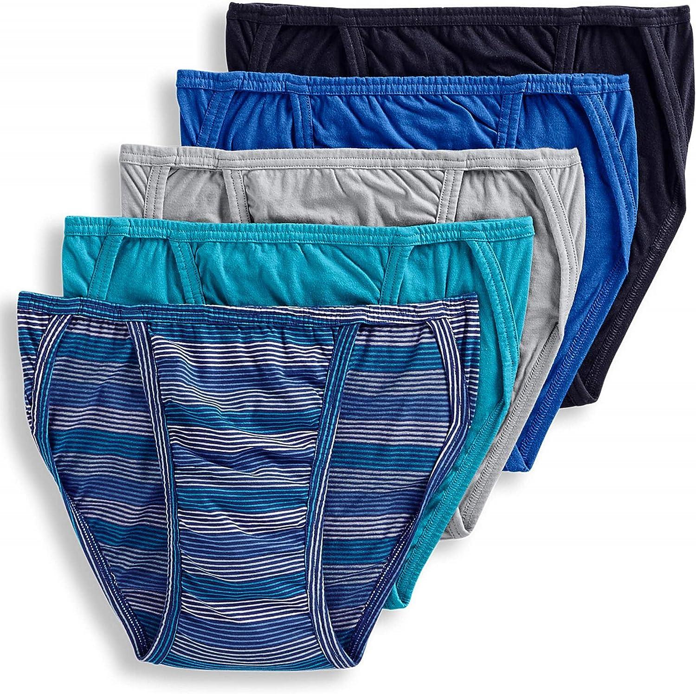 Jockey Life 5-Pack Men's 24/7 Comfort Cotton String Bikinis - Assorted