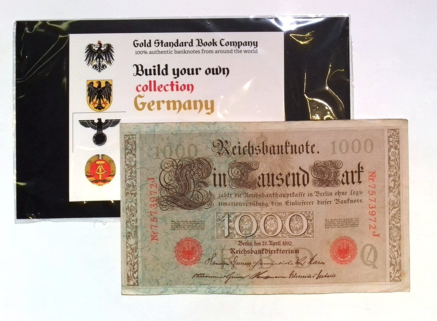 Huge 1910 German Empire Banknote Authentic 1000 Mark Max Ranking integrated 1st place 90% OFF