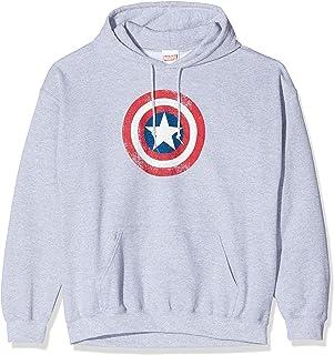 MARVEL Men's Avengers Captain America Distressed Shield Sweatshirt