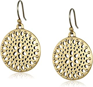 Lucky Brand Womens Two-Tone Openwork Drop Earrings