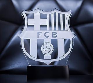 3D Lamparas Oficial Escudo del FC Barcelona Lámpara Original Accesorios de 2019-2020 y Mejor Regalo de Barça para Bebe Infantil niño Kids Hombre Mujer Adulto Mejor Decoracion para hogar