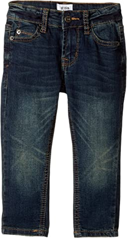 Jagger Fit Slim Straight Fit French Terry in Medium Indigo (Infant)