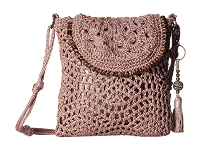 The Sak Sayulita Flap Crossbody (Seashell) Handbags