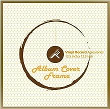 Golden State Art, 12.5x12.5 Gold Aluminum Vinyl Record Album Cover Frame