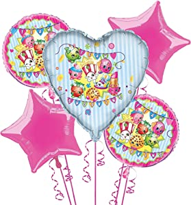 Shopkins Balloon Bouquet Kit, 5pc, multi (43087)