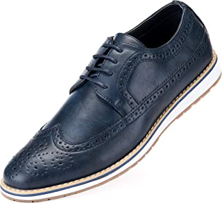 Mens Casual Shoes Classic Wingtip Oxford Business Dress Shoes for Men - in A Shoe Bag