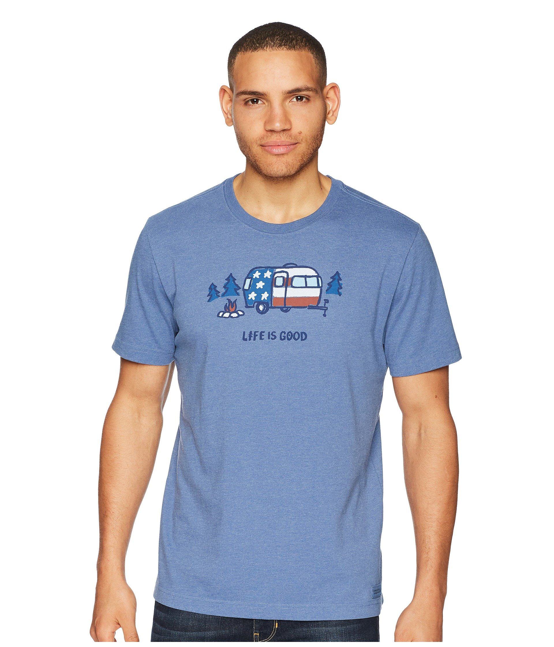 Tee Life Crusher Blue Is Americana Heather Vintage Good Camp ZCnBqwxFC