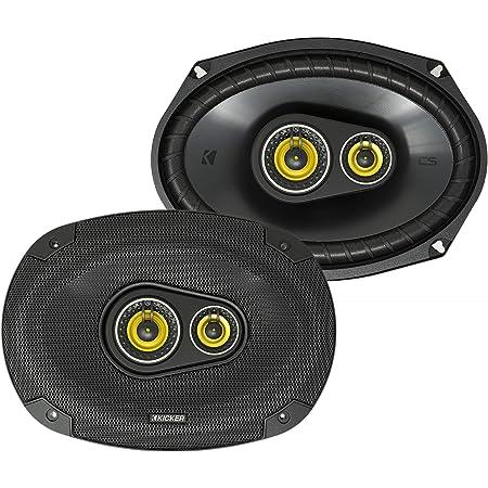 Kicker CS Series 150 Watt 6 x 9 Inch Car Audio Coaxial Speaker Pair, Yellow