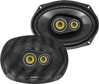 Kicker CS Series 150 Watt 6 x 9 Inch Car Audio Coaxial Speaker Pair, Yellow photo